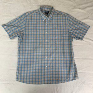 Saddlebred Easy Care SS Plaid Button Down Shirt